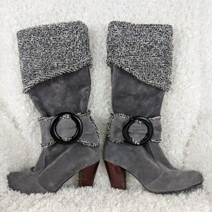 New Buckle Heeled Winter Boots
